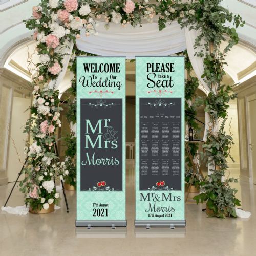 Wedding Roller Banner N7 - Welcome to our Wedding / Table Seating Plan